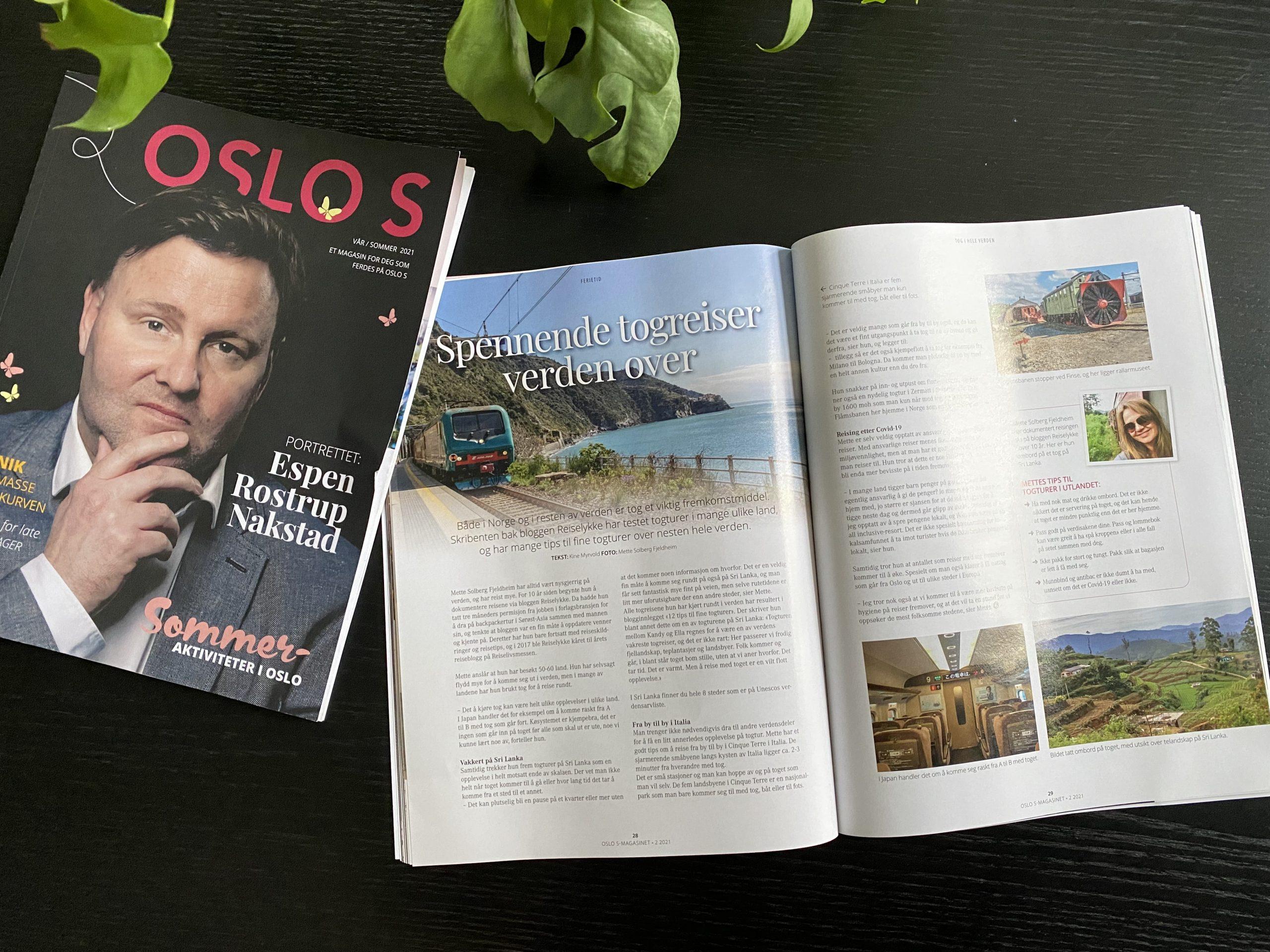 Reiselykke i magasinet til OSLO S
