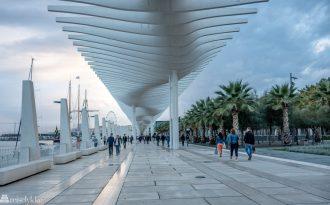 Havnepromenaden i Málaga