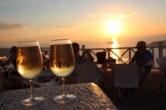 Vulkansk vin på Santorini
