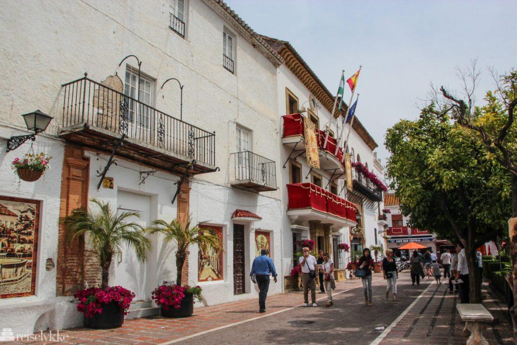 Koselig gate i Marbella gamleby