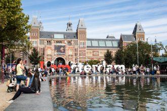 Rijksmuseum og iamsterdam skilt