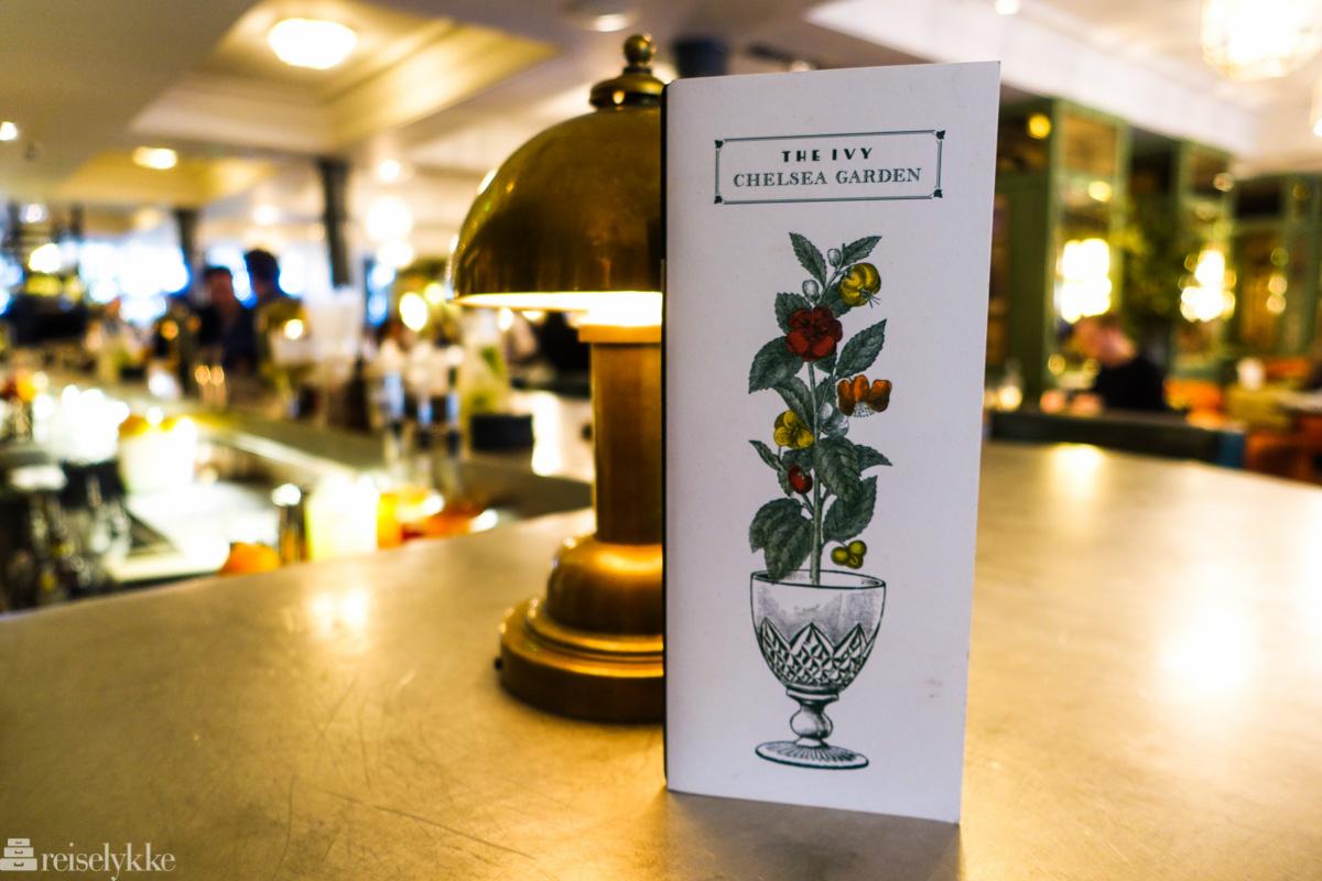 The Ivy Chelsea Garden er på listen over gode restauranter i London