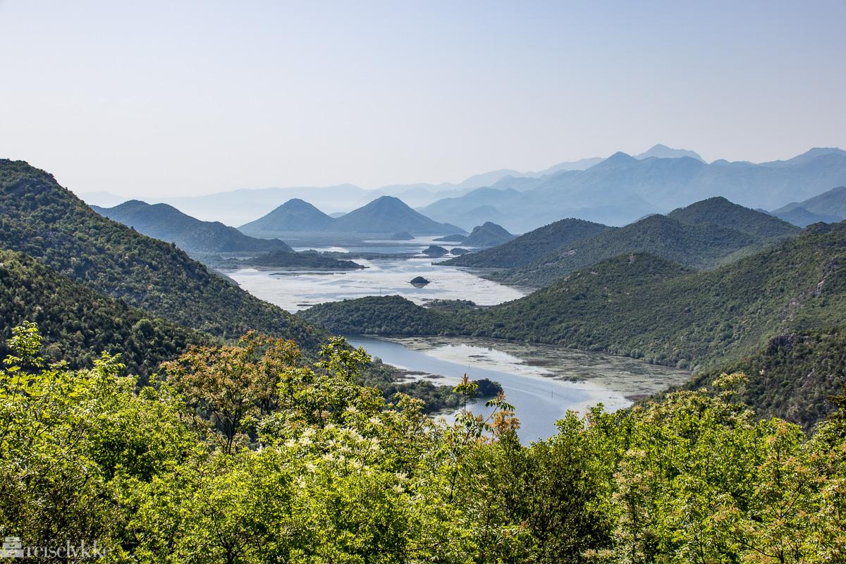 Utsikt over Shkodërsjøen fra Pavlova Strana