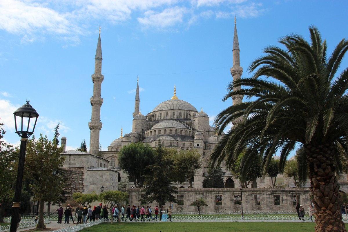 Den blå moské i Istanbul Foto: Mette S. Fjeldheim