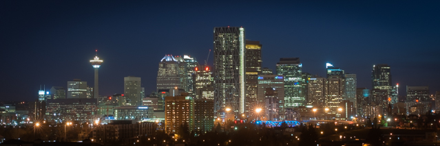 Calgary by night Foto: Gro Lagesen
