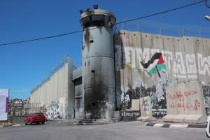 Separasjonsmuren på palestinsk side av Vestbredden. Foto: Reiselykke