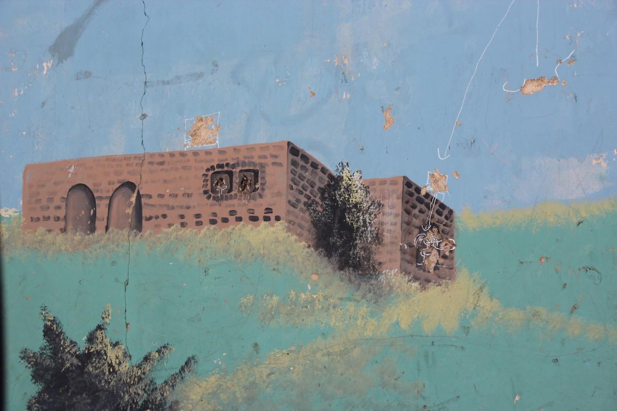 Store deler av separasjonsmuren er dekke av kunstferdige bilder eller grafitti. Foto: Reiselykke