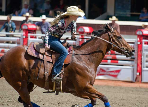 Lindsay Sears under Calgary Stampede Foto: privat