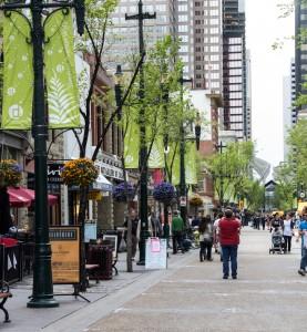 Stephen Ave., Calgarys gågate Foto: privat