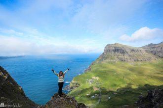 Aktiv ferie: Mette på fjelltur på Færøyene