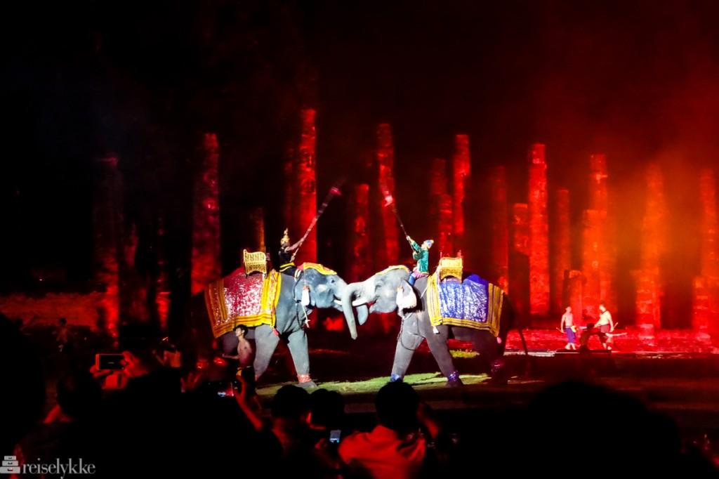 Elefanter i Thailand: Loy Krathong-forestilling