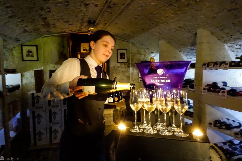 Guidet tur i vinkjelleren i Seaham Hall