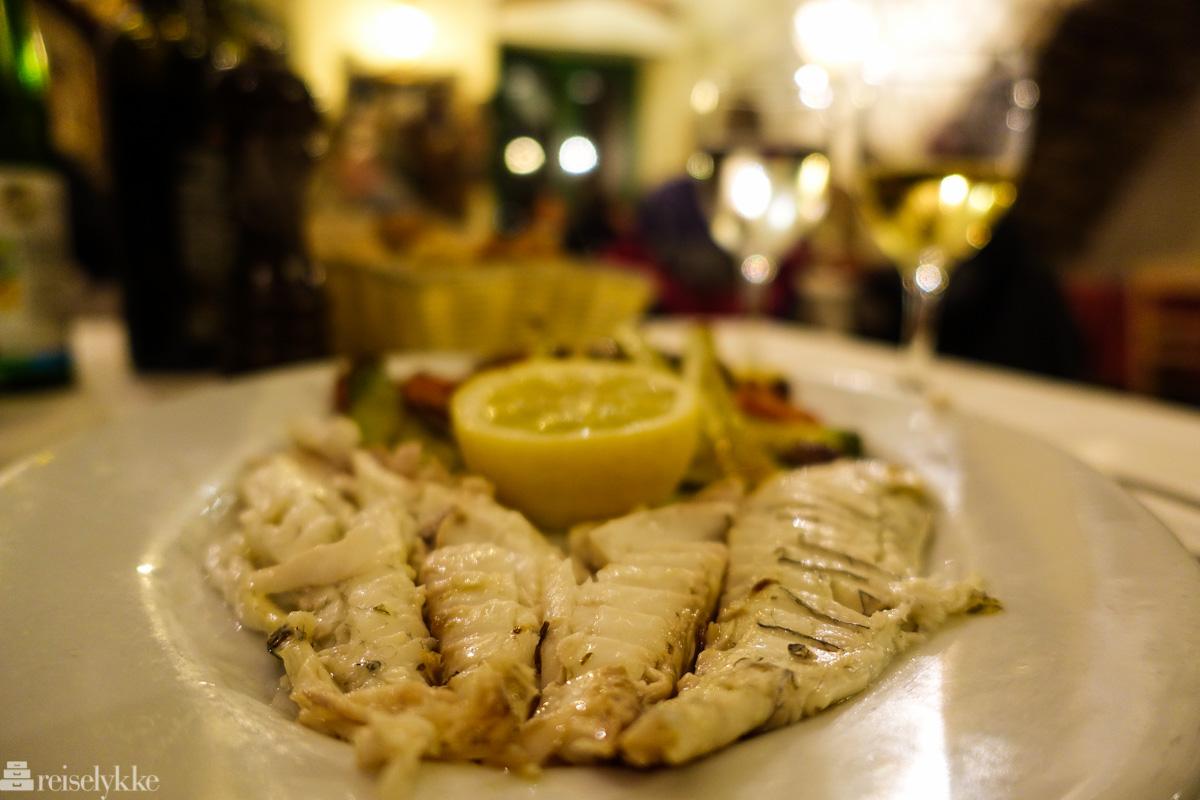 Dagens fisk i Cinque Terre