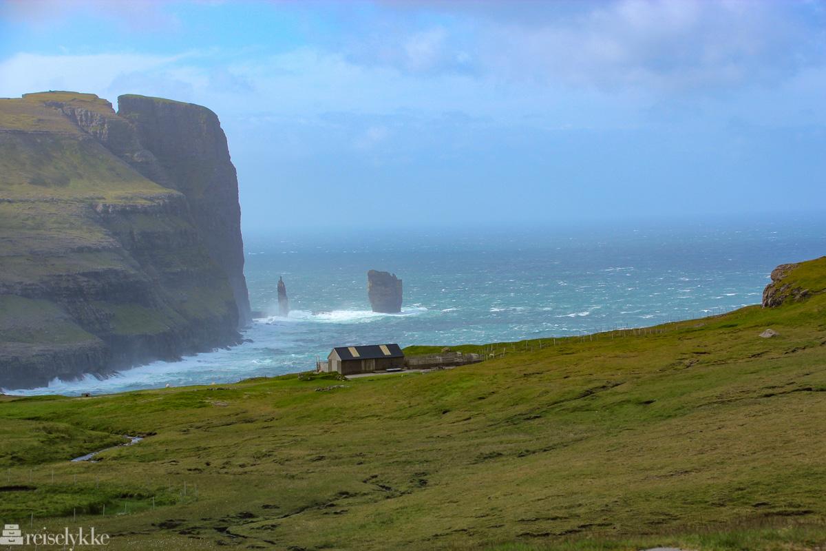Dramatisk natur på Færøyene_