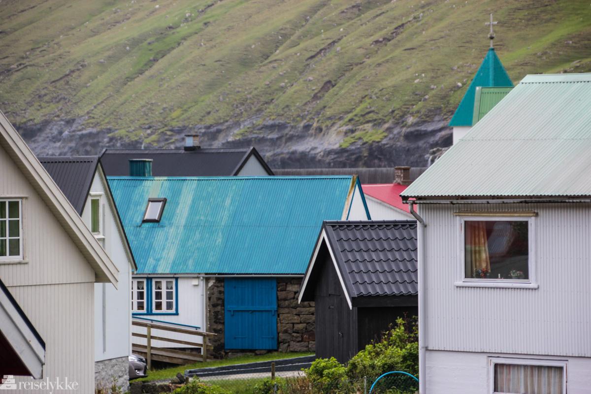 Fargerike hus, Gjógv, Færøyene