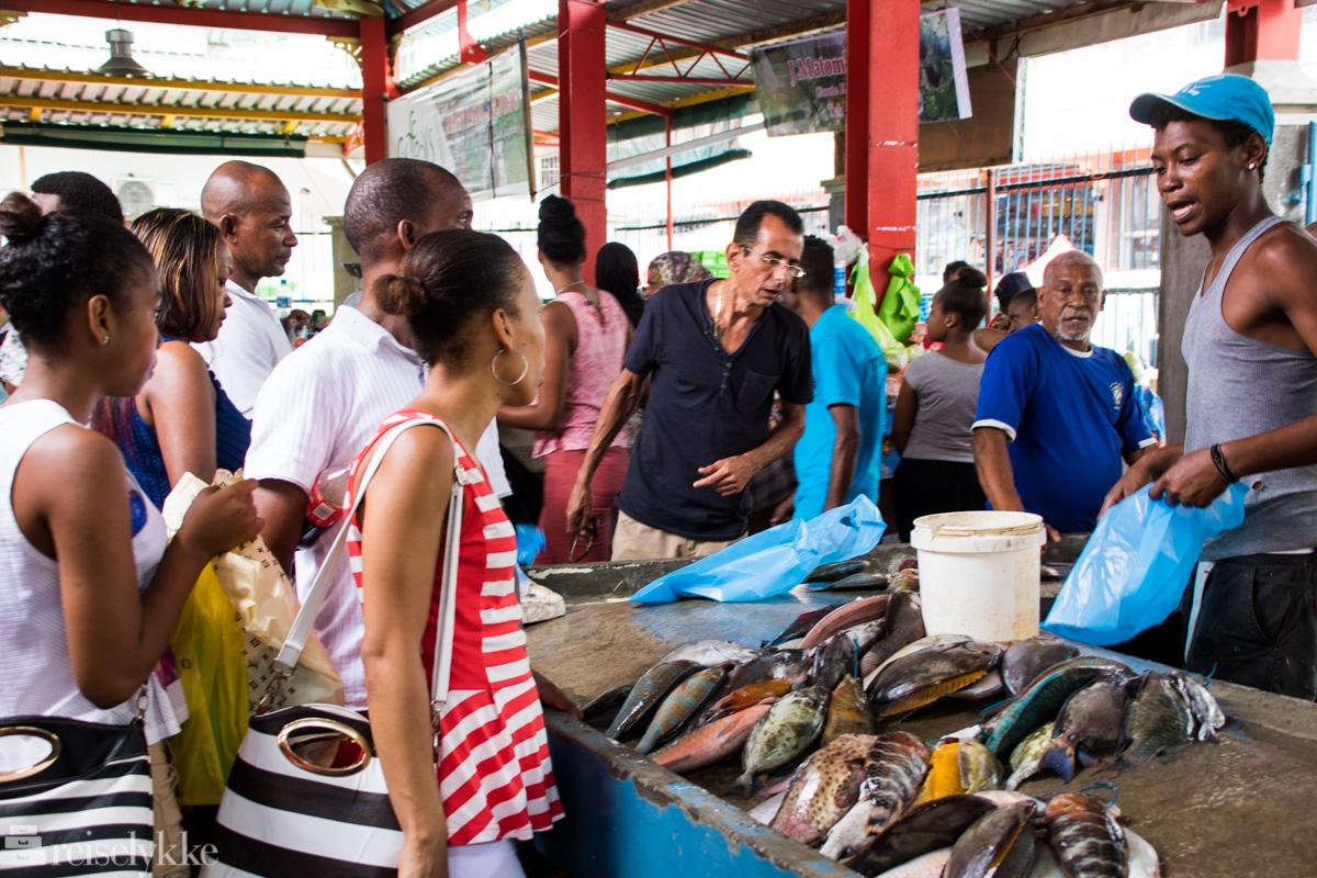 Fiskemarkedet i Victoria Mahé Seychellene
