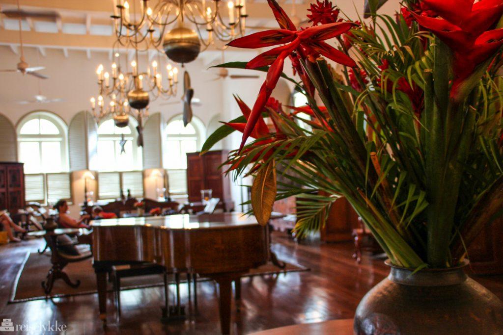 Resepsjonen på Galle Fort Hotel