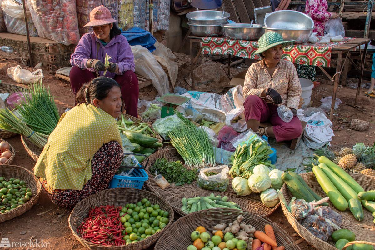 Grønnsaksselgere Kambodsja