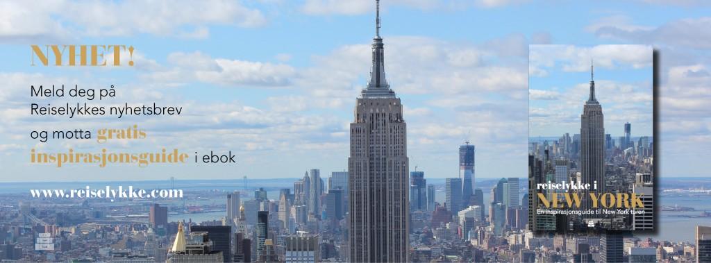 Klikk på bildet for å melde deg på nyhetsbrev - og motta gratis inspirasjonsguide til New York