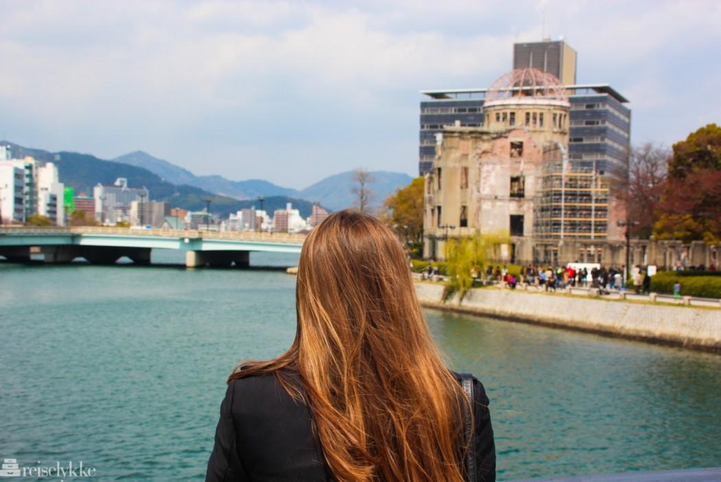 Å reise: her fra Hiroshima ved Atomic Bomb Dome
