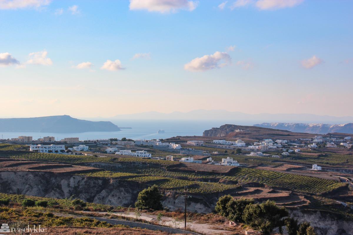 Vinmarker på Santorini