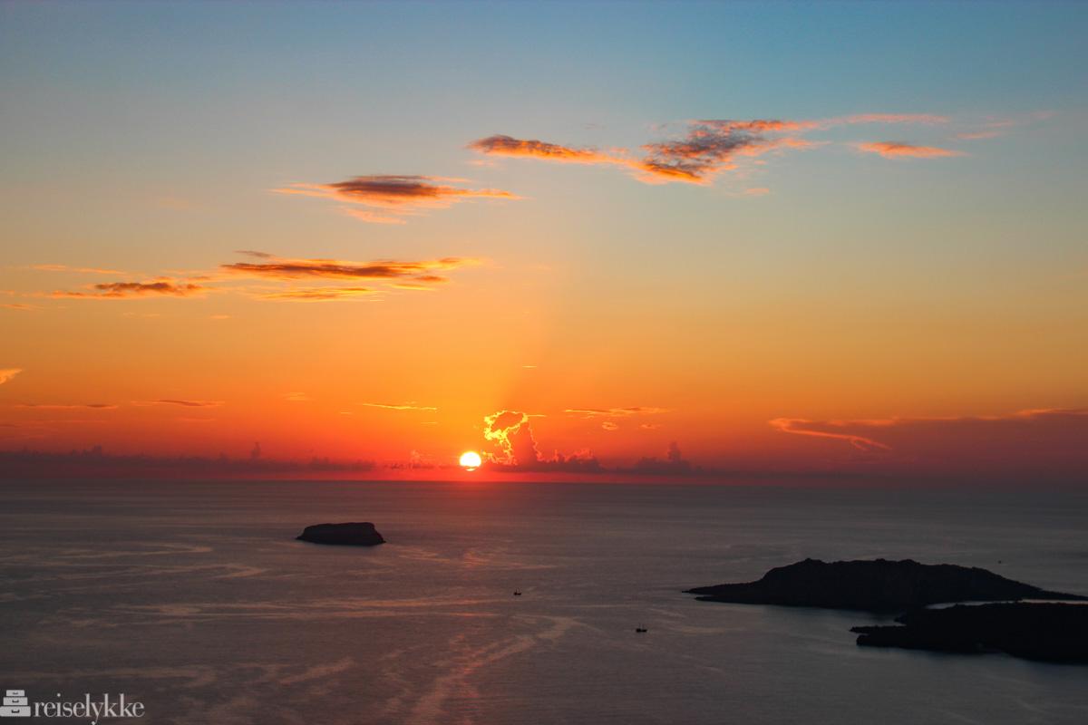 Santorini - solnedgang