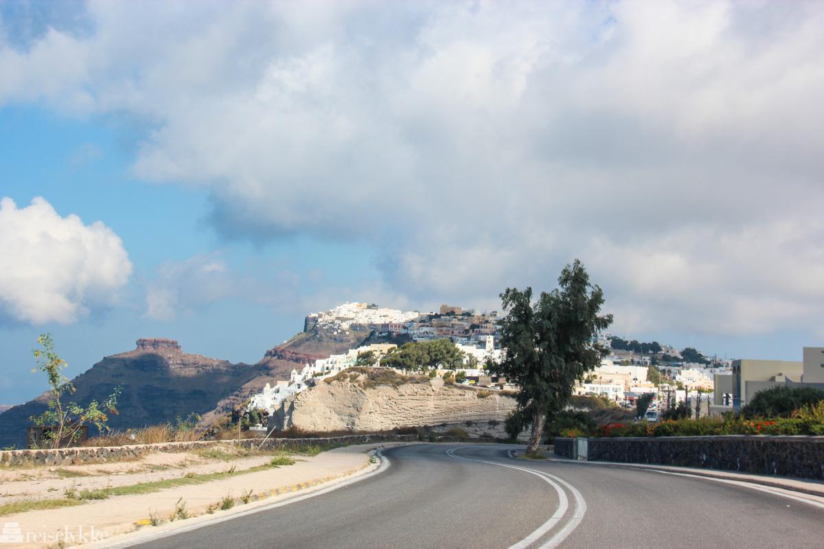 bilvei, Santorini