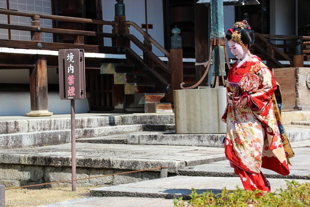 En geisha i Kyoto