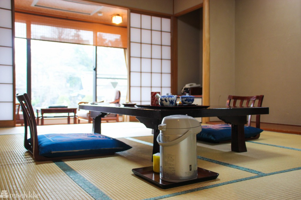 En natt på ryokan i Japan: Wakamatsu Honten