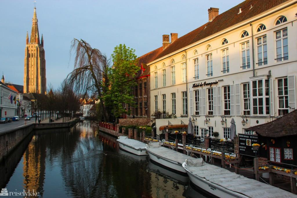 Brugge: bilde fra kanalene