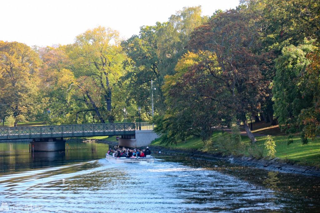 Gøteborg: fra parken rundt elven