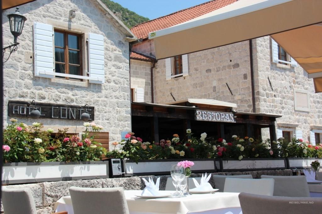 Overnatting i Kotor, Montenegro, Hotel Conte, Perast