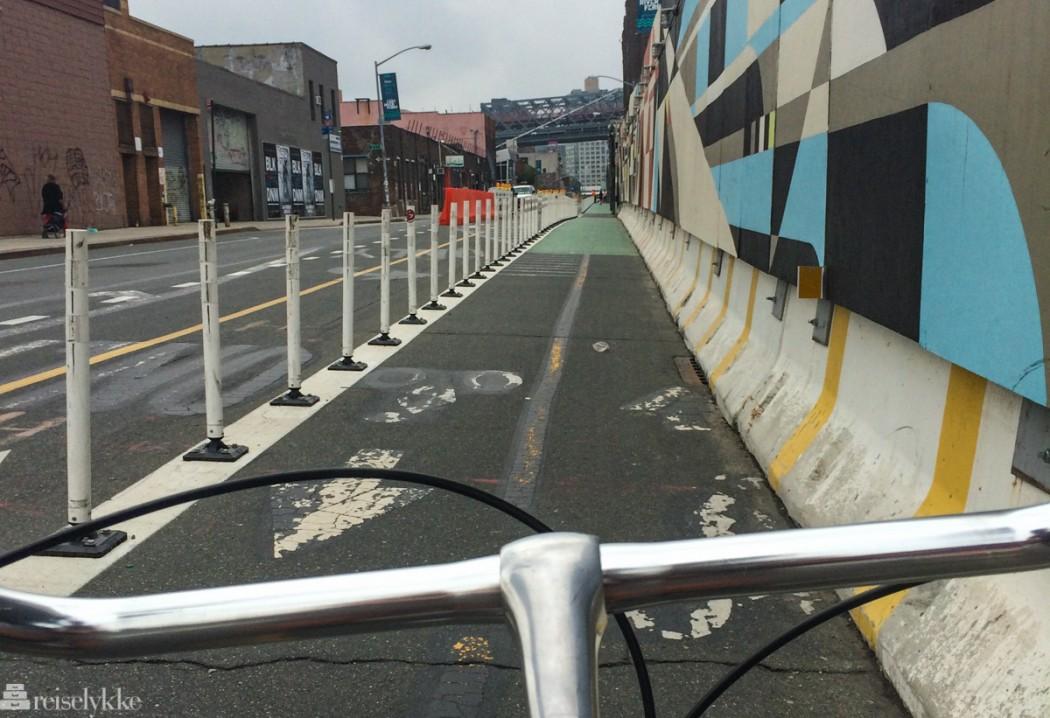På sykkeltur i Brooklyn