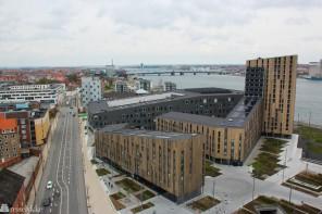 Aalborg og Limfjorden sett fra oven