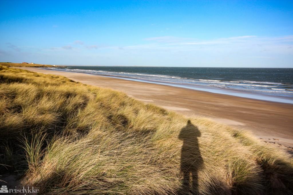 Bamburg Beach - ved et slott i Northumberland.