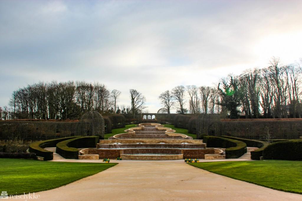 Alnwick Garden - ved et slott i Northumberland
