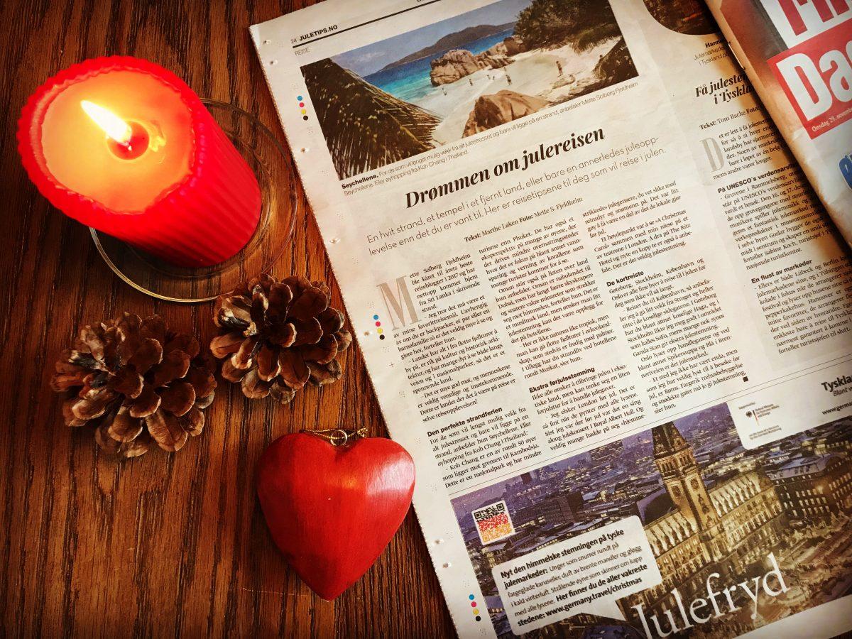 Intervjuet i Dagbladets julebilag om julereiser