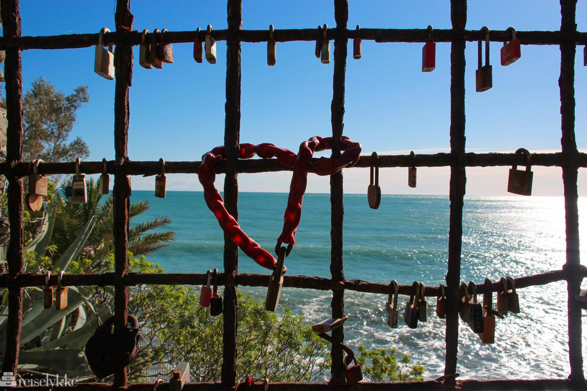 Kjærlighetslåser ved Monterosso