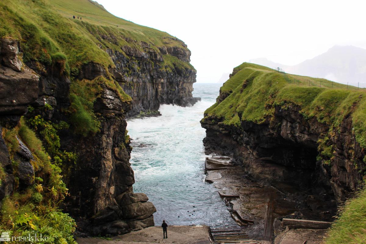 Kløften i Gjógv på Færøyene