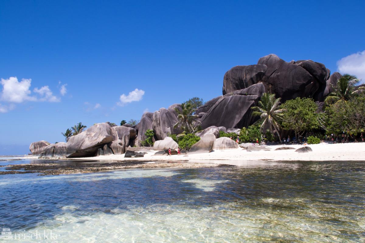 Anse Source d'Argent på La Digue, Seychellene