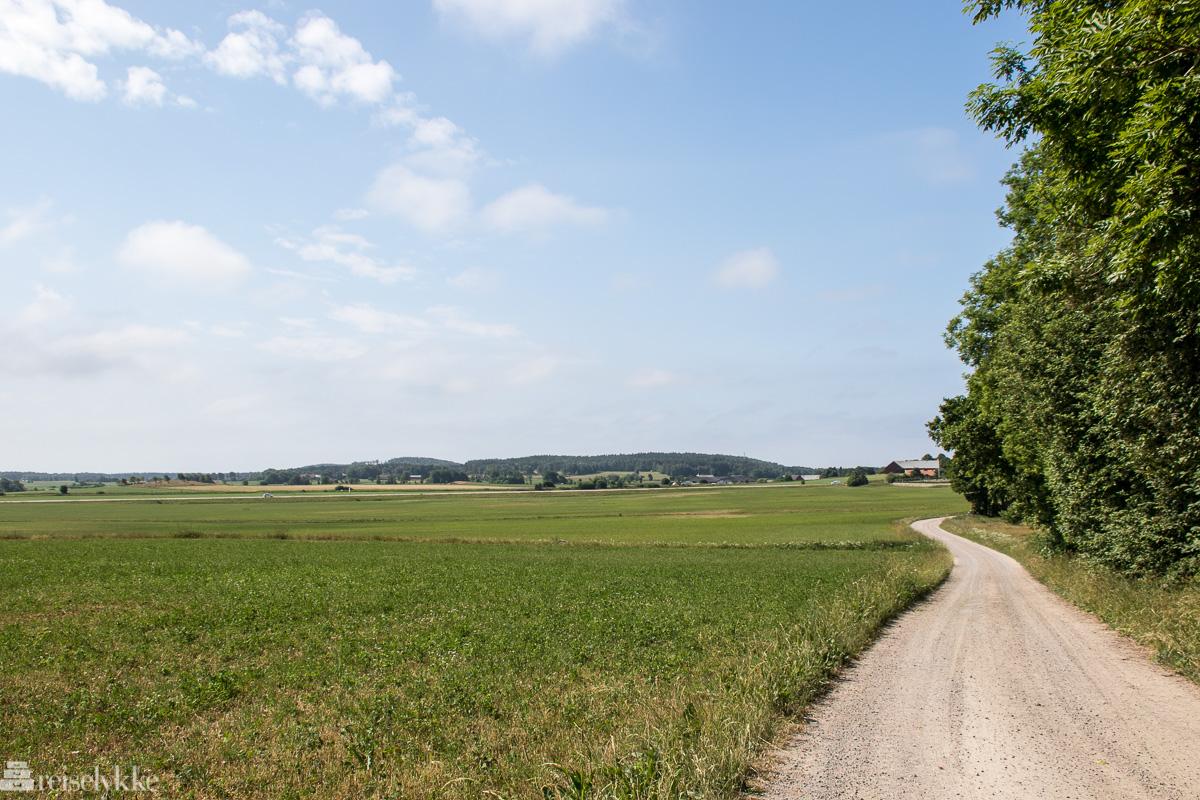 Landskap ved Falkenberg i Sverige