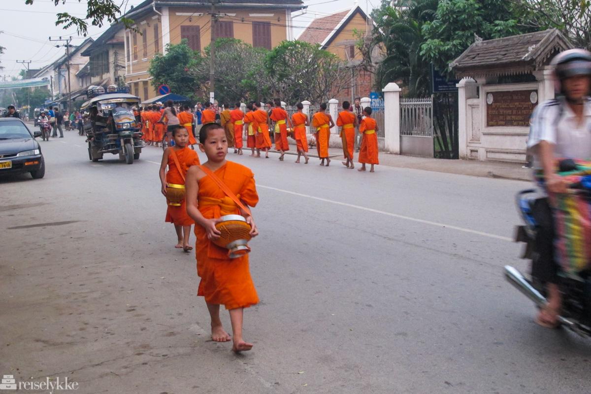 Munker i Luang Prabang Laos