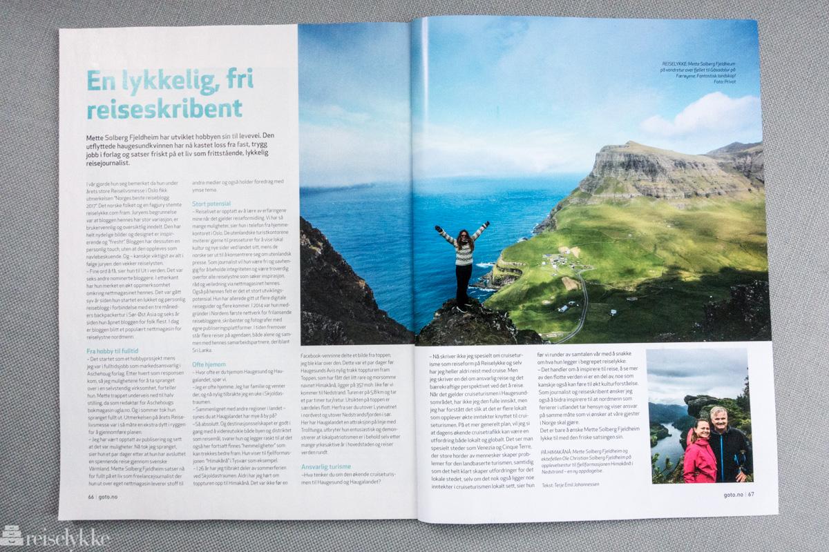 Mette Solberg Fjeldheim intervjuet i magasinet Ut i verden