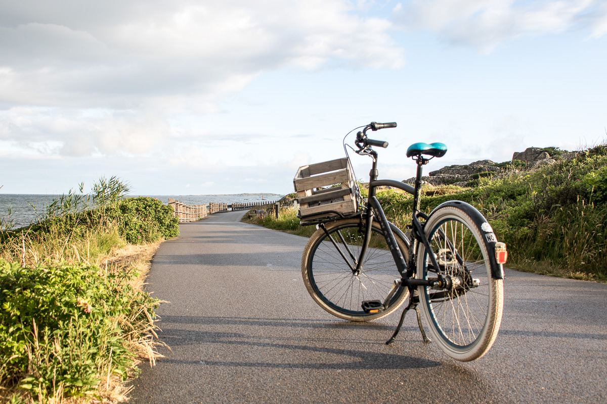 På sykkeltur langs kyststien i Varberg