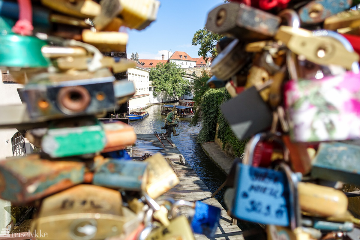 Kjærlighetsbro i Praha