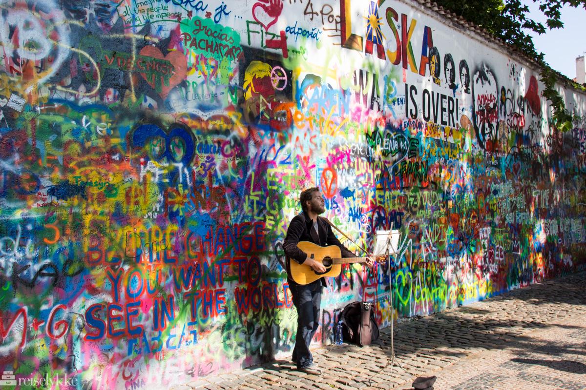 Lennon-veggen i Praha