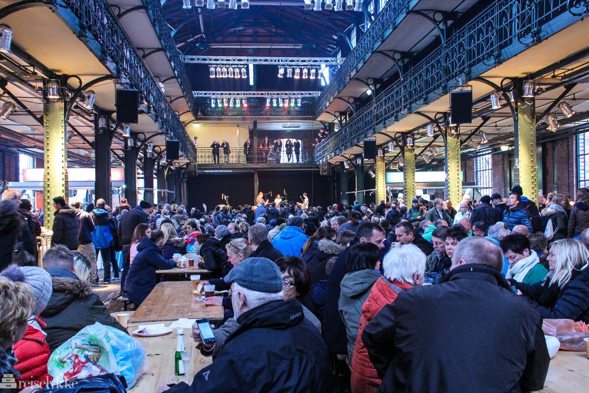 Søndagsbrunsj på Fiskemarkedet i Hamburg