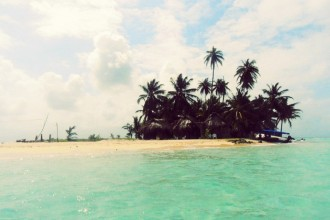 island, beach, sea, san blasé