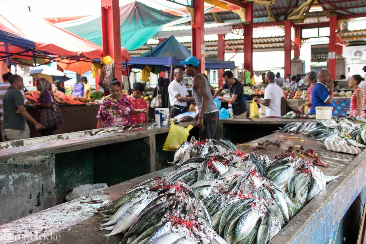 Sir Selwyn Selwyn-Clarke Market i Victoria Mahé Seychellene