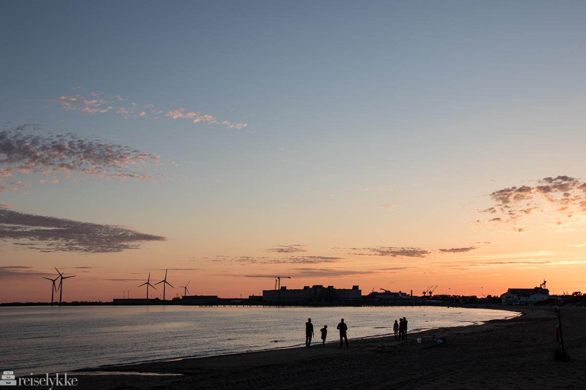 Skrea strand i solnedgang Falkenberg